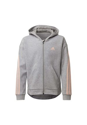 STRIPES FULL-ZIP HOODIE - Sweatjacke - grey