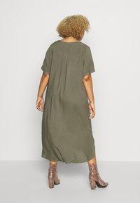 ONLY Carmakoma - CARDENIZIA CALF DRESS SOLI - Day dress - kalamata - 2