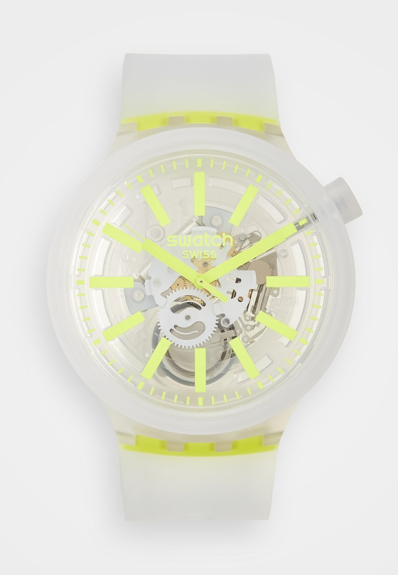 Swatch - YELLOWINJELLY - Zegarek - transparent/yellow