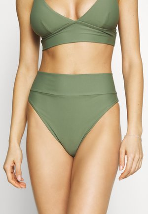 HI CUT CHEEKY SOLID - Bikini bottoms - olive fun