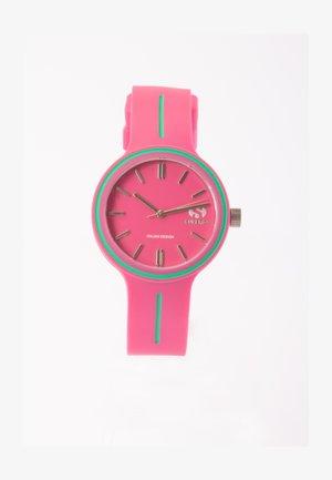 Horloge - fuxia