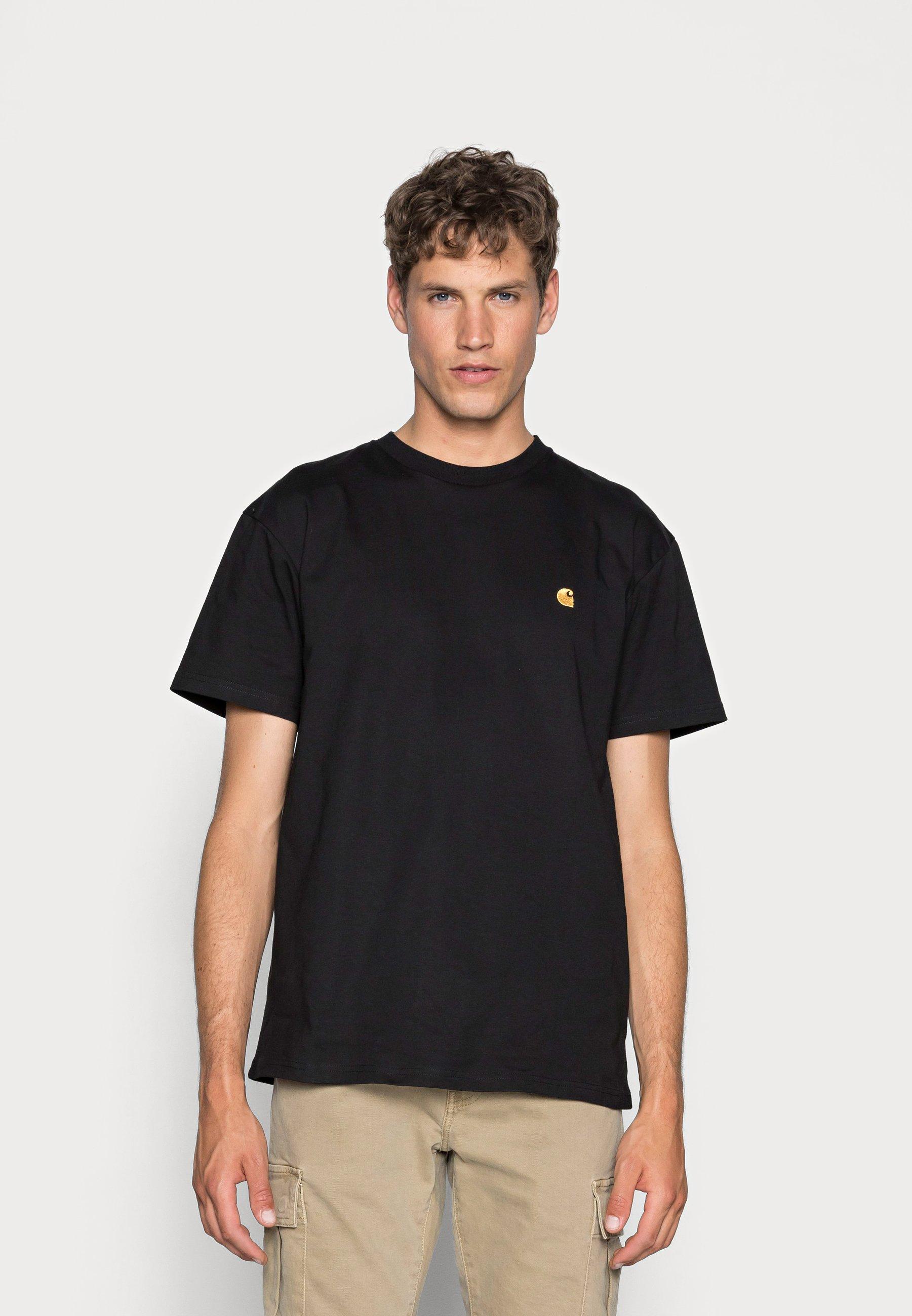 CHASE   T Shirt basic   black/gold