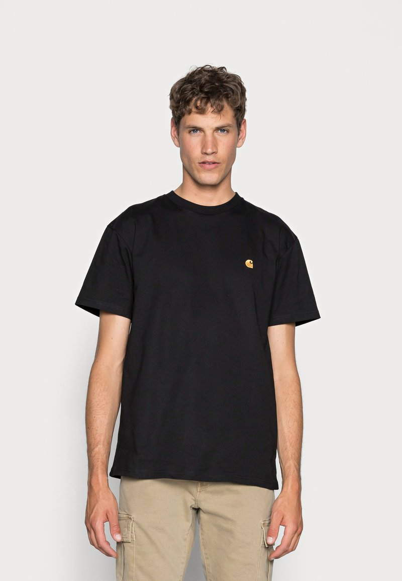 Carhartt WIP - CHASE - T-paita - black/gold