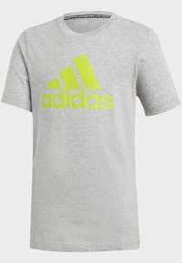 adidas Performance - MUST HAVES  BADGE OF SPORT T-SHIRT - T-shirt print - grey - 0
