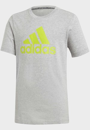 MUST HAVES  BADGE OF SPORT T-SHIRT - Triko s potiskem - grey