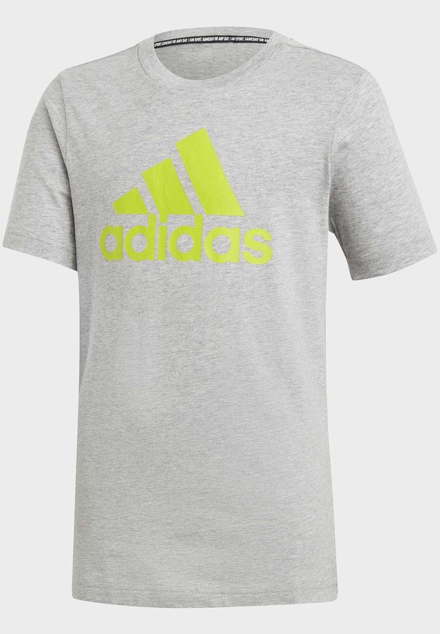 MUST HAVES  BADGE OF SPORT T-SHIRT - Print T-shirt - grey