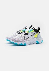 Nike Sportswear - REACT VISION - Sneakers - white/black/volt/blue fury - 3