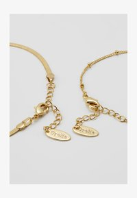 SATELLITE AND FLAT CURB CHAIN BRACELET 2 PACK - Bransoletka - gold-coloured
