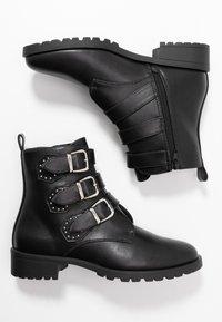 Anna Field - Cowboy/biker ankle boot - black - 3