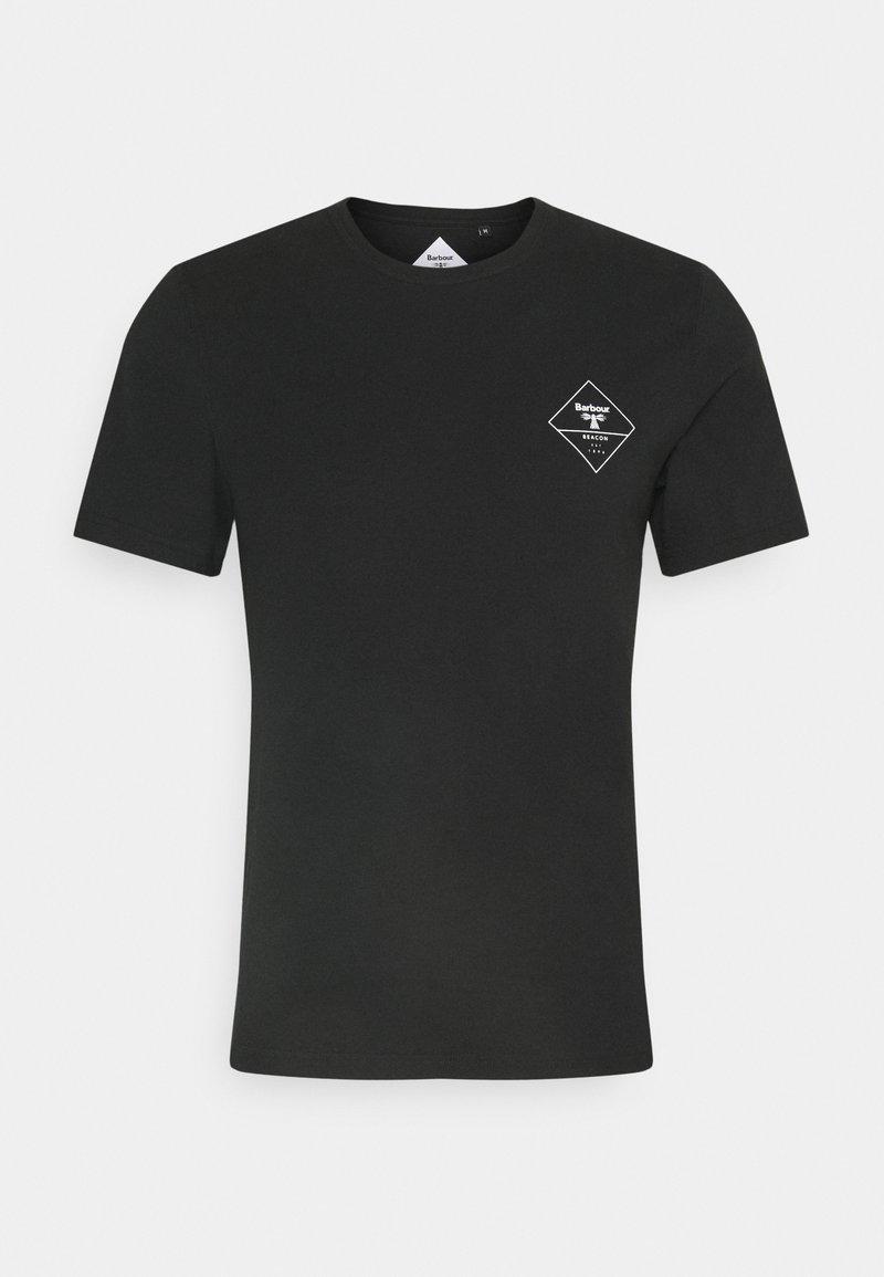 Barbour Beacon - BOX LOGO TEE - T-shirt med print - black