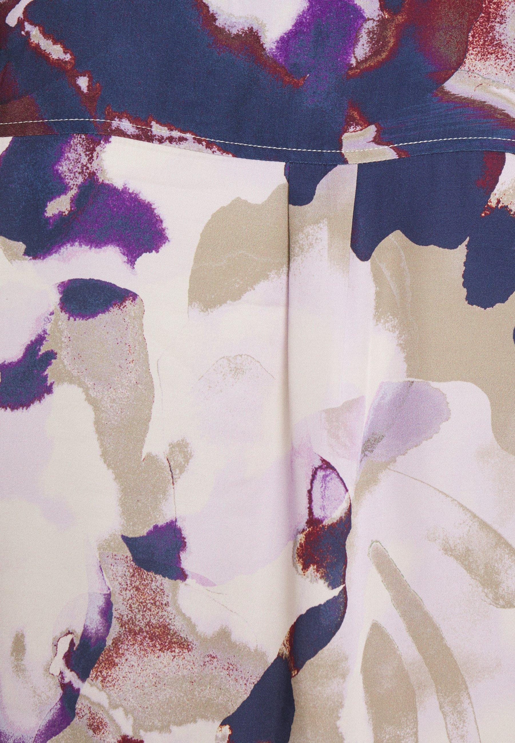 Shopping Online Women's Clothing Part Two ERENE Button-down blouse watercolor purple 8ZDAQuskD