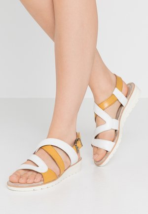 Sandals - white/saffron