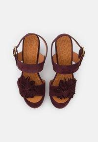 Chie Mihara - YANELA - Sandales à plateforme - zeus grape/shana red - 4