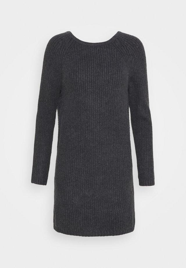 TWIST BACK DRESS - Jumper dress - charcoal heather