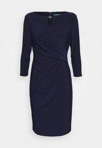 Lauren Ralph Lauren - MID WEIGHT DRESS TRIM - Pouzdrové šaty - lighthouse navy - 7