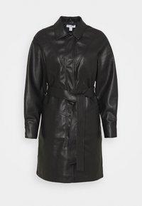 Topshop - BELTED SHAKETT - Short coat - black - 4