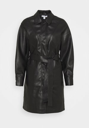 BELTED SHAKETT - Short coat - black