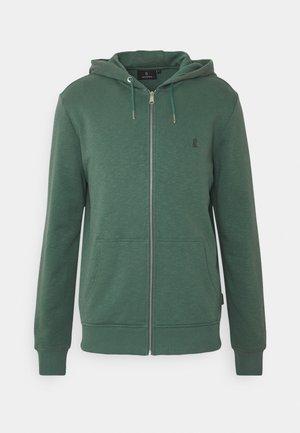 BASIC - Zip-up hoodie - eukalyptus green