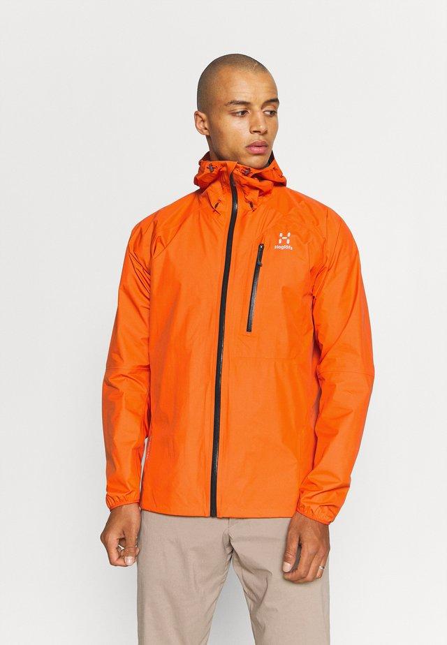 JACKET MEN - Chaqueta Hard shell - flame orange