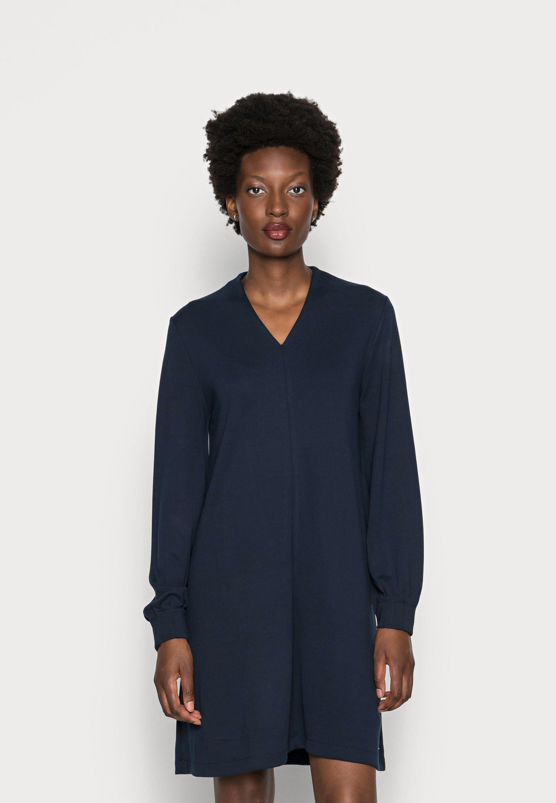 Damen WITH V NECK - Jerseykleid