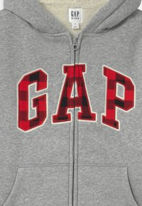 GAP - BOY COZY LOGO - Zip-up hoodie - light grey - 2
