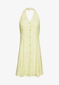 Rolla's - HALTER MINI TULIPS DRESS - Day dress - citron - 3