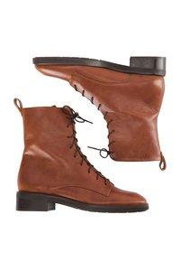 usha - Lace-up ankle boots - cognac - 2