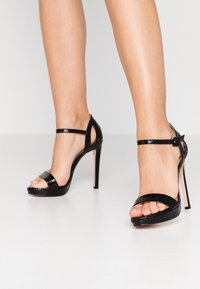 Tata Italia - Korolliset sandaalit - black - 0