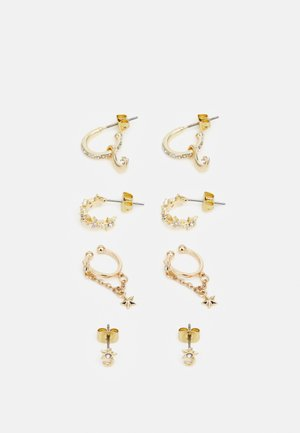 PCSOL EARRINGS 4 PACK  - Korvakorut - gold-coloured