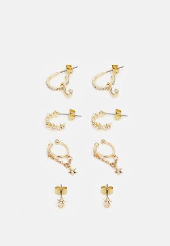 PCSOL EARRINGS 4 PACK  - Earrings - gold-coloured