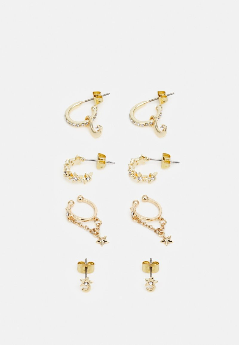 Pieces - PCSOL EARRINGS 4 PACK  - Earrings - gold-coloured