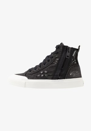 S-ASTICO MID ZIP - Korkeavartiset tennarit - black