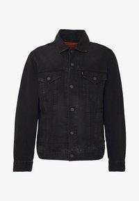 VINTAGE FIT TRUCKER UNISEX - Denim jacket - black trucker
