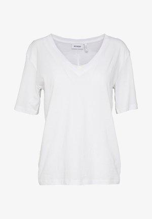 LAST V NECK - Basic T-shirt - white
