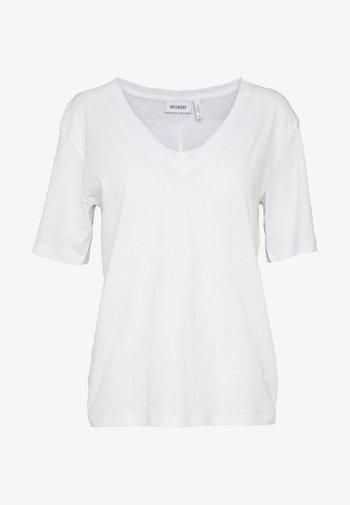 LAST V NECK - T-shirt basique - white