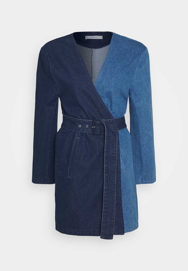BLAZER DRESS - Robe en jean - dark blue denim
