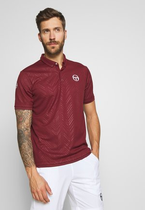 CHEVRON - Sports shirt - bordeaux/white