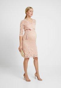 MAMALICIOUS - MLMIVANA DRESS - Vestido de cóctel - silver pink - 2
