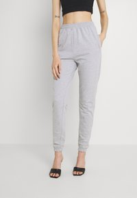 Missguided - BASIC JOGGERS 2 PACK - Tracksuit bottoms - lilac/light grey - 2