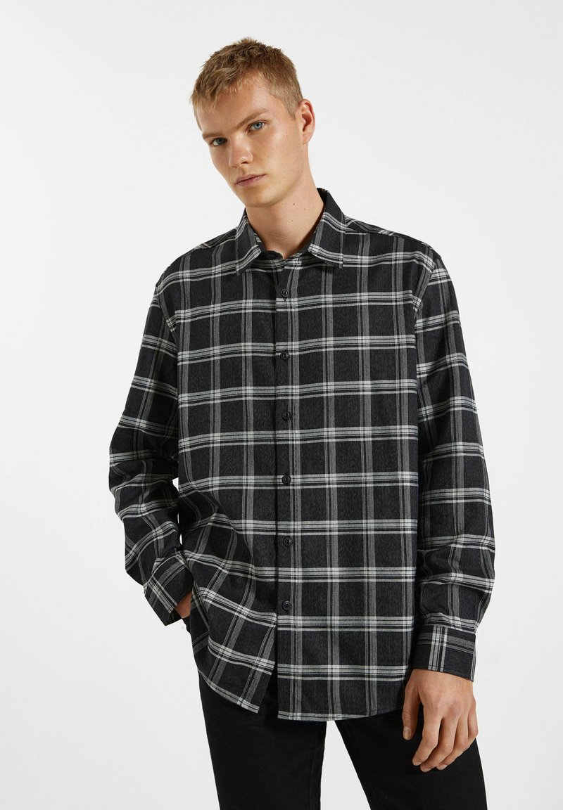 PULL&BEAR - Shirt - black