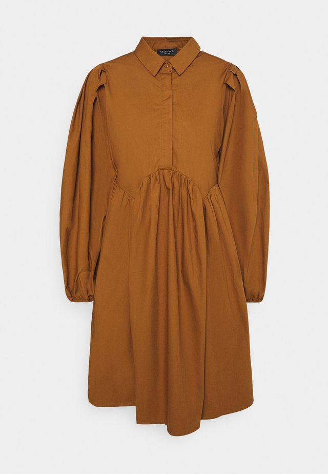 SLFBEA BERTA SHORT DRESS - Shirt dress - toffee