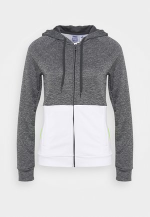 LIN HOOD SET - Mikina na zip - dark grey heather/white