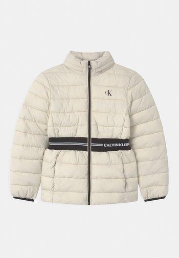 INTARSIA LOGO - Winter jacket - muslin