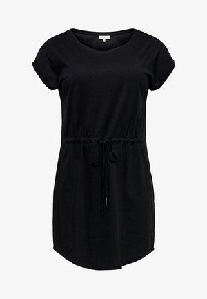 KLEID CURVY BASIC - Jersey dress - black