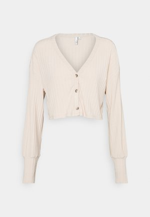 BOXY BUTTON - Cardigan - creme