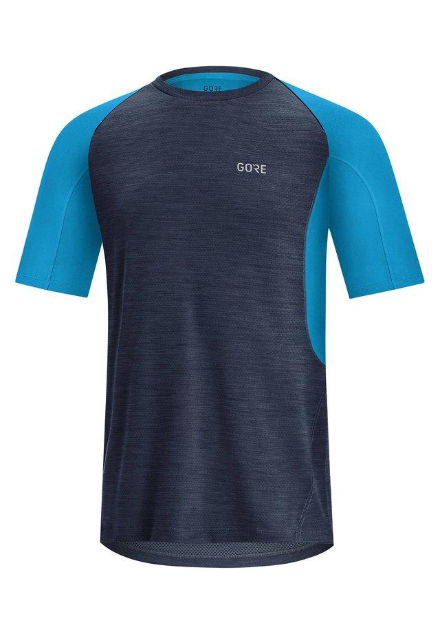 "GORE WEAR HERREN LAUFSHIRT ""R5"" KURZARM - Print T-shirt - dark blue"