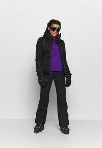 The North Face - GLACIER SNAP NECK - Fleecetrøjer - peak purple/tnf black - 1