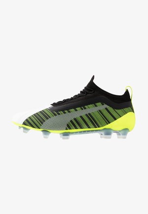 ONE 5.1 FG/AG - Chaussures de foot à crampons - white/black/yellow alert
