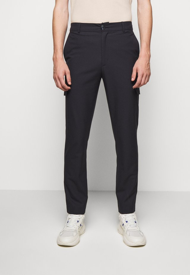 HAROLD TROUSERS - Cargo trousers - blueberry