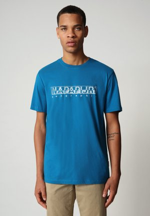 SALLAR - Print T-shirt - mykonos blue